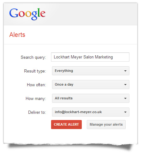 Google Alerts - Settings