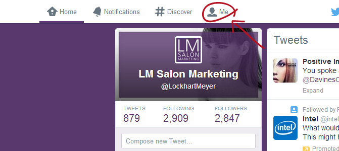 A top Twitter idea for salons: step 1