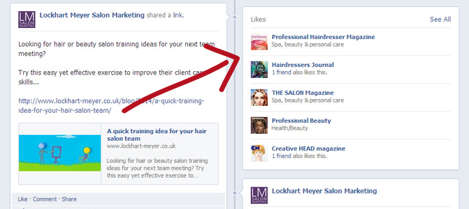 Improve your salon branding on Facebook with this easy tip screenshot