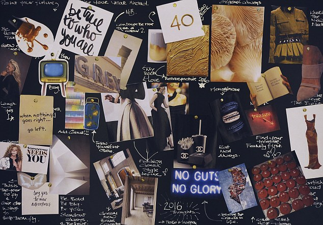 New year resolutions Kelly Hoppen vision board