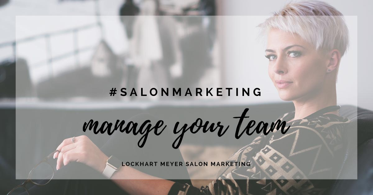 manage your salon team