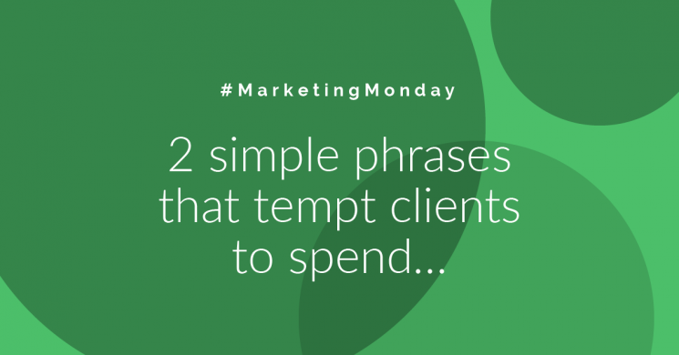 2 Simple Phrases That Tempt Clients To Spend…